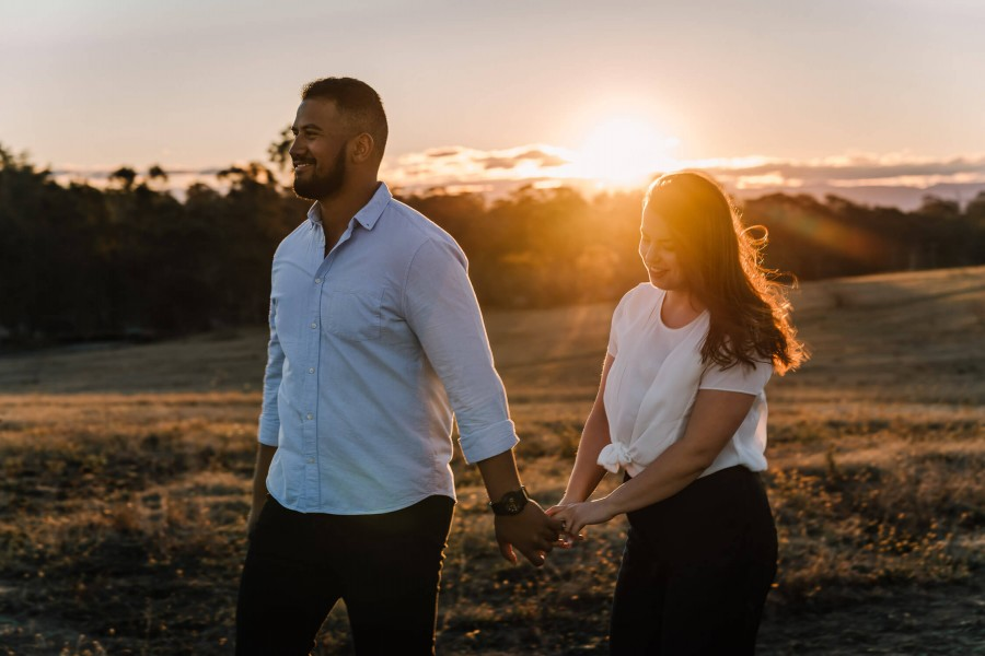 Couple's photo shoot in Rouse Hill, NSW, Australia