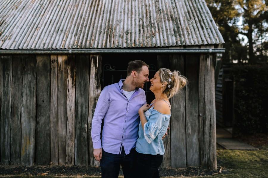 Couple's photo shoot in Galston, NSW, Australia