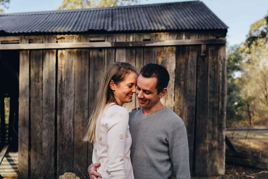 Couple's photo shoot in Cattai, NSW, Australia
