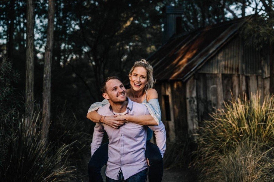 Couple's shoot in Fagan Park NSW Australia