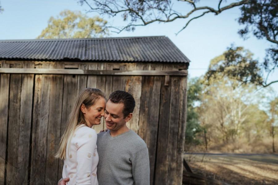 Couple's shoot in Cattai National Park NSW Australia