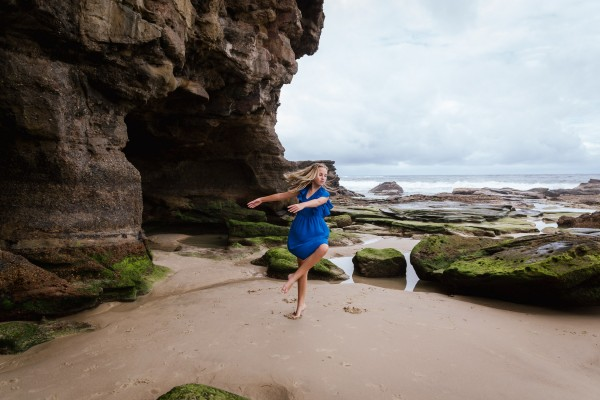 Fine art shoot at Caves Beach, NSW, Australia