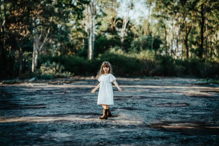 Children's shoot in Cattal National Park NSW Australia