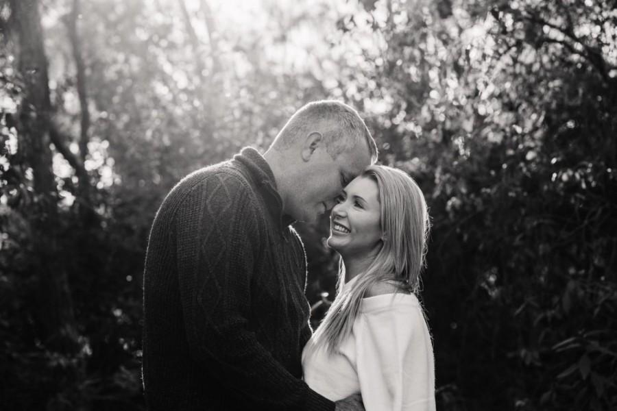 Black and white Couple's shoot in Cattai NSW Australia